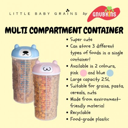 LITTLE BABY GRAINS - MULTI COMPARTMENT RICE CONTAINER